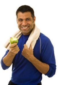 Athlete Eating an Apple